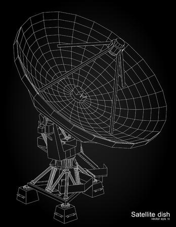 astronomie: Satellitenschüssel illustration Illustration