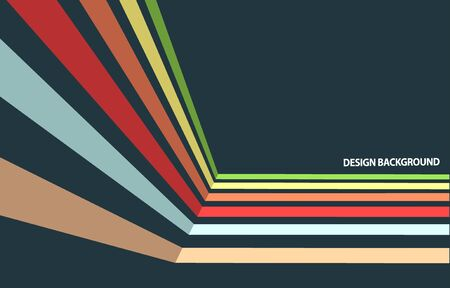 dynamic: Dynamic colorful stripes. Abstract vintage background