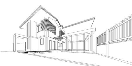 bâtiment wireframe 3d