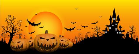 Halloween design background Ilustracja