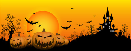 Halloween design background Illustration