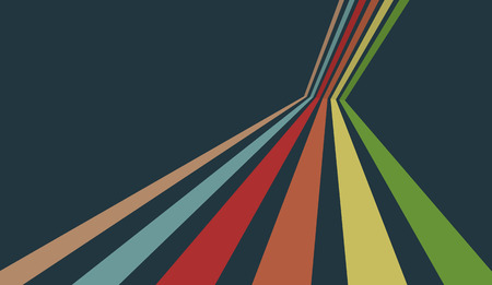 Dynamic colorful stripes. Abstract vintage background