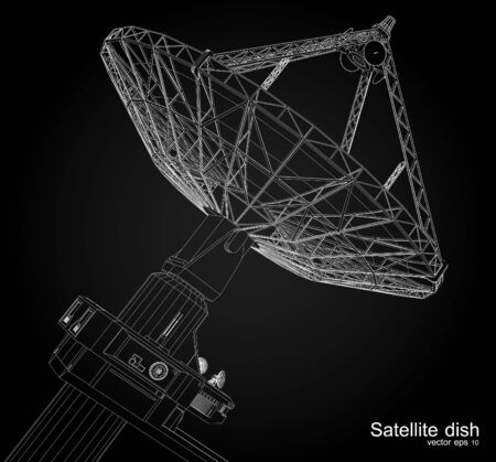 dish: Satellite dish , vector illustration Illustration