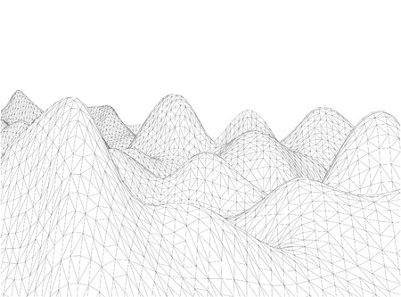 rural areas: 3D wireframe of contour swirl Illustration