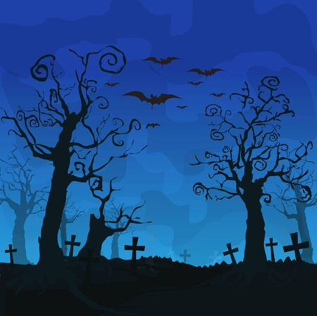 halloween background: Halloween design background Illustration