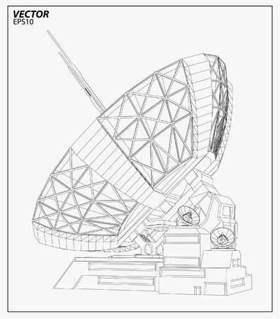 satellite: Satellite dish , vector illustration Illustration