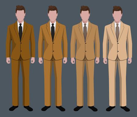 wearing: Businessman wearing suits.