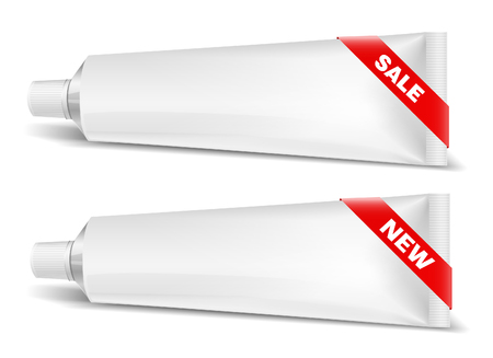 aftershave: Tube Of Toothpaste, Cream Or Gel with box. Ready For Your Design. New Product Packing