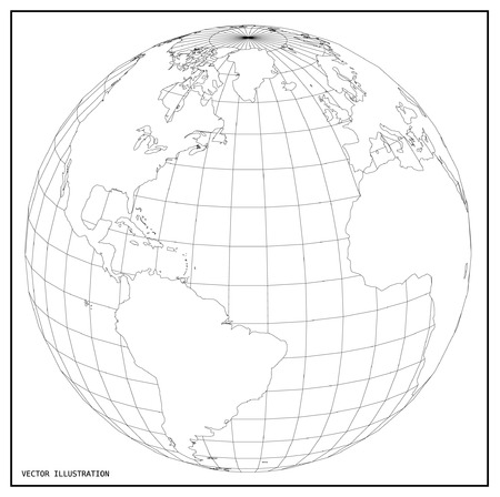 earth map: World map with earth globes.