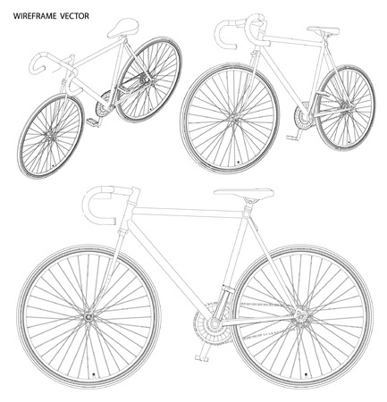 bycicle: bicycle Sketch.