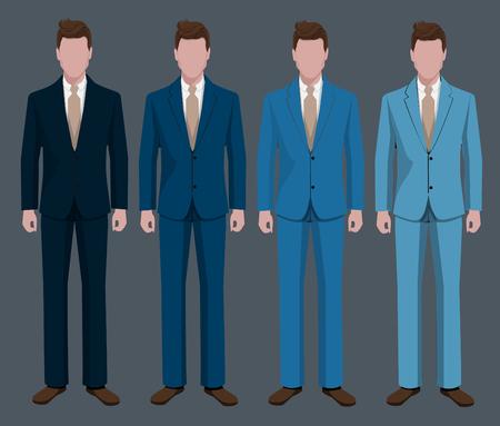 masculino: El empresario lleva trajes.