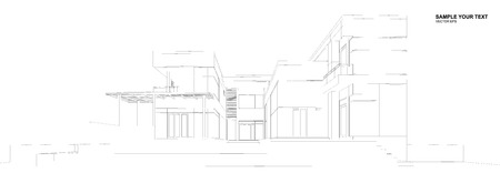 perspectives: Perspective 3d Wireframe of building