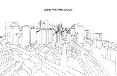 architecture: Cityscape Vector Sketch. Architecture - Illustration