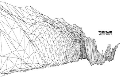 contour: 3D wireframe of contour swirl Illustration