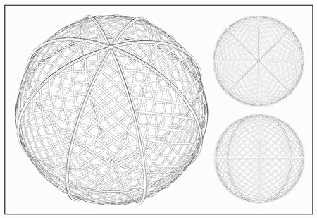 parallel world: Wireframe spheres