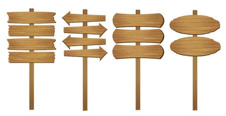 segno: Tavola di legno. Illustrazione vettoriale.