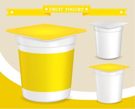 packing: plastic container for yogurt (yogurt dessert, yogurt container, design of packing yogurt, food plastic container, design of packing yogurt)
