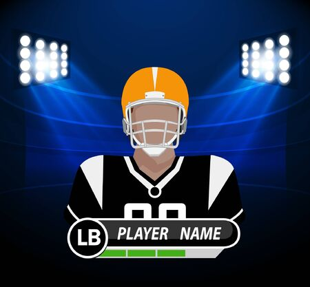 football pitch: Football Player with spotlight Illustration
