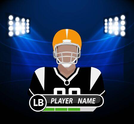 jugador de futbol: Jugador de fútbol con el proyector