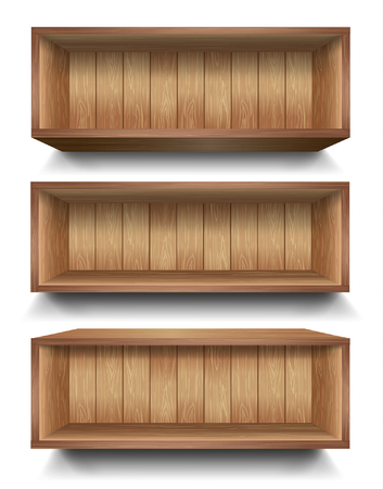 empty shelf: 3d isolated Empty shelf for exhibit. Vector illustration. Illustration