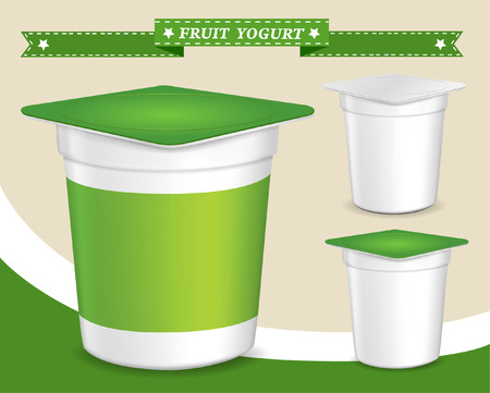 plastic container for yogurt (yogurt dessert, yogurt container, design of packing yogurt, food plastic container, design of packing yogurt)
