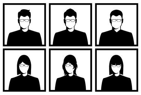 nude man: People profile silhouettes. vector illustration Illustration