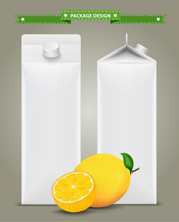 non alcoholic: White carton boxes, ideal for fruit juice. Can drawn with mesh tool. Fully adjustable & scalable. packages design
