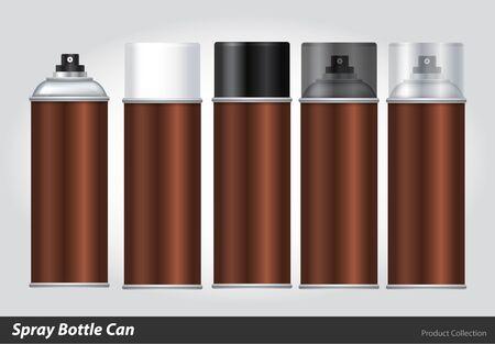 paint can: Spray Metal 3D Bottle Can: Paint, Graffiti. Vector EPS10