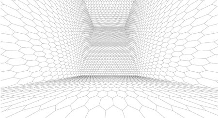 surface: Wireframe Surface Vector Background Illustration