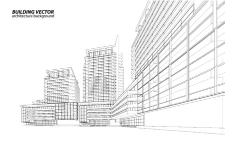 3d building wireframe