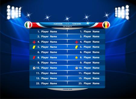 tournament chart: Info graphic statistics - Soccer