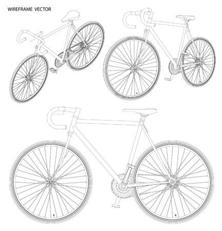 sketch: bicycle Sketch. vector illustration Illustration
