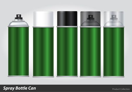 spray paint can: Spray Metal 3D Bottle Can: Paint, Graffiti. Vector EPS10