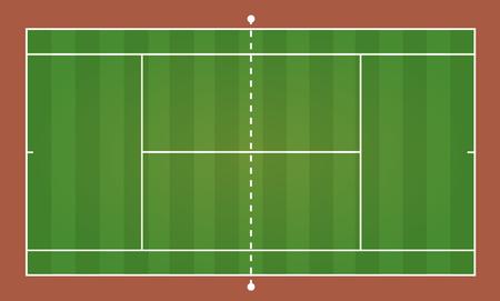 Top view of tennis court, sport background - Vector illustration Illustration