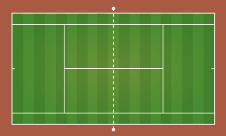 dross: Top view of tennis court, sport background - Vector illustration Illustration