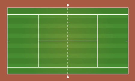 tennis court: Top view of tennis court, sport background - Vector illustration Illustration