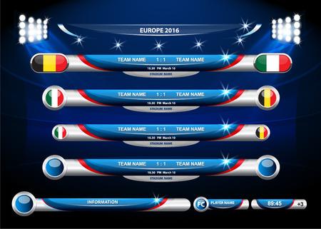 Info graphic statistics - Soccer