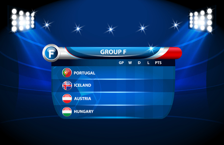 European football championship 2016 in France groups F vector