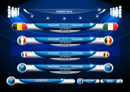 sports team: Info graphic statistics - Soccer