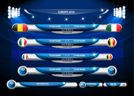 Informations statistiques graphiques - Football Banque d'images - 55147918