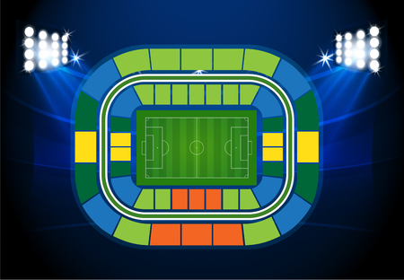 soccer stadium: Soccer stadium scheme with zone