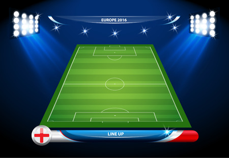 Vector info graphic football field statistics. Imagens - 55147944