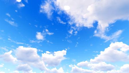 himmel mit wolken: Sky Wolken. 3d Lizenzfreie Bilder