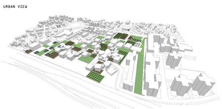 architectural heritage: Cityscape Vector Sketch. Architecture - Illustration