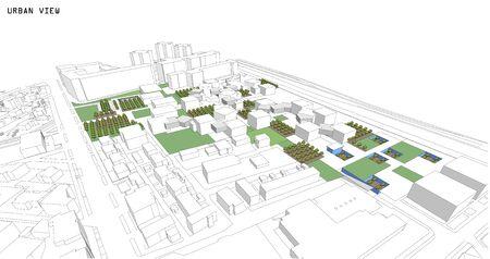 etch: Cityscape Vector Sketch. Architecture - Illustration