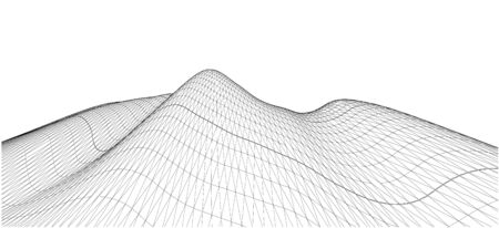 terrain: 3D Wireframe Terrain, contour. EPS10 Vector Illustration