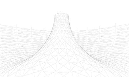 Abstract of Wireframe mesh polygonal