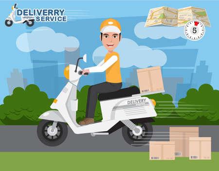 Delivery vector illustration Ilustração