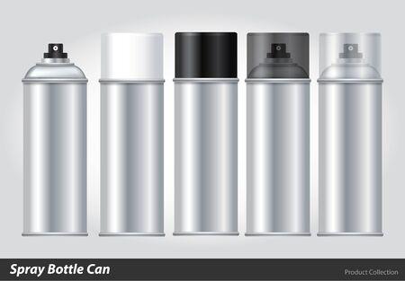 金属 3 D ボトル缶をスプレー: ペイント、落書き。ベクトル EPS10  イラスト・ベクター素材