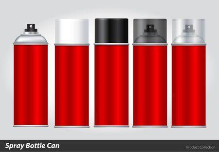 disinfectant: Spray Metal 3D Bottle Can: Paint, Graffiti. Vector EPS10